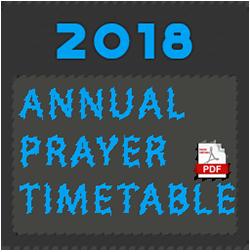 Hayes Muslim Centre Annual Prayer Timings