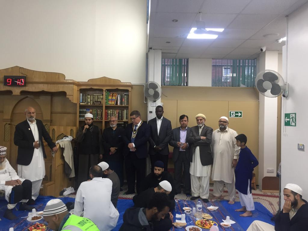 Iftar with mayor of Hilligdon